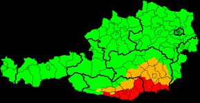 Aktuelle Unwetterwarnungen   Österreich