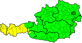 Aktuelle Unwetterwarnungen | Österreich