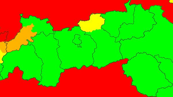 Aktuelle Unwetterwarnungen Tirol